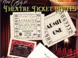 Movie themed Wedding Invites Unique Movie Star Hollywood theatre Cinema Ticket Wedding