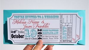 Movie Ticket Wedding Invitation Template Movie Ticket Wedding Invitation