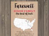 Moving Away Party Invitations Going Away Party Invitation Farewell Party Invite Moving