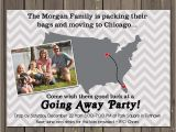 Moving Away Party Invitations Going Away Party Invitation Moving Farewell Party Invitation