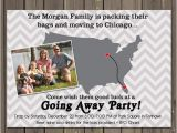 Moving Out Party Invitations Going Away Party Invitation Moving Farewell Party Invitation
