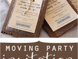 Moving Out Party Invitations Moving Party
