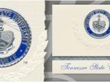 Mtsu Graduation Invitations Tennessee State University Graduation Announcements