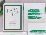 Multi Color Wedding Invitations Multi Color Wedding Invitations Unique 5×7 Green and
