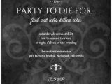Murder Mystery Birthday Party Invitations Murder Mystery Black Dinner Party Invitation Dinner