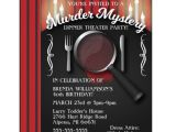 Murder Mystery Birthday Party Invitations Murder Mystery Dinner theater Party Invitation Zazzle Com