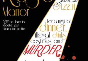 Murder Mystery Party Invitations Free Printable Printable File 1920s Murder Mystery Dinner Party