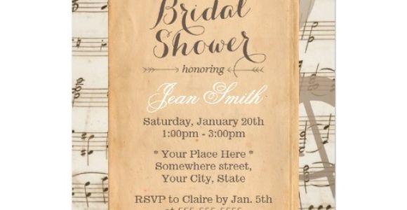 Music themed Baby Shower Invitations Musical theme Baby Shower Ideas