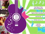 Music themed Birthday Party Invitations Music Birthday Party Invitations Oxsvitation Com