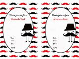 Mustache Birthday Invitations Printable Mustache Birthday Invitations – Birthday Printable