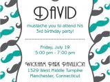 Mustache Birthday Invitations Printable Printable Mustache Birthday Party Invitation