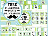 Mustache Birthday Party Printables Free Little Man Mustache Bash Party Printables From