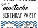 Mustache Birthday Party Printables Mustache Party 10 Free Printables Paper Trail Design