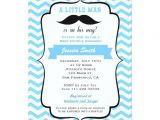 Mustache Invitations for Baby Shower Mustache Little Man Baby Shower Invitation