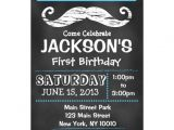 "Mustache Invitations for First Birthday Chalkboard Mustache First Birthday Invitation 5"" X 7"