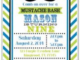 Mustache Party Invitation Template Free Mustache Birthday Party Invitations Mustache