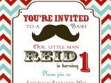 Mustache Party Invitation Template Free Mustache Birthday Party Invitations