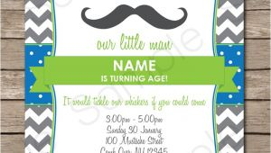 Mustache Party Invitation Template Free Mustache Party Invitations Little Man Party