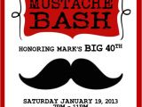 Mustache Party Invitation Template Free Red Mustache Bash Invitation Template 4×6