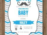Mustache themed Baby Shower Invitations Baby Shower Invitations Mustache