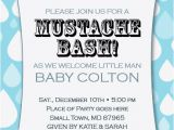 Mustache themed Baby Shower Invitations Little Man Mustache Bash Printable 1st Birthday Party Baby