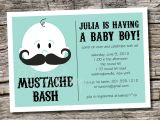 Mustache themed Baby Shower Invitations Mustache Baby Shower Invitation Templates