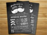 Mustache themed Baby Shower Invitations Mustache Baby Shower Invitations