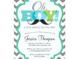 Mustache themed Baby Shower Invitations Oh Boy Mustache Baby Shower Invitation