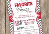 My Favorite Things Party Invitation A Few Of My Favorite Things Chevron Invitation Printable