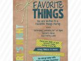 My Favorite Things Party Invitation Favorite Things Party Invite