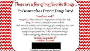 My Favorite Things Party Invitation Land Of Collins My Favorite Things Party Invitation