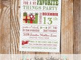 My Favorite Things Party Invitation Modern My Favorite Things Party Invitation On Gray Chevron