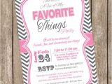 My Favorite Things Party Invitation Unavailable Listing On Etsy