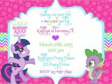 My Little Pony Baby Shower Invitations My Little Pony Birthday Invitation Wording