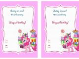 My Little Pony Baby Shower Invitations My Little Pony Birthday Invitations My Little Pony