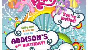 My Little Pony Birthday Invitation Template My Little Pony Birthday Invitation Design Customized to Your