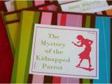 Nancy Drew Party Invitations Bunches and Bits Nancy Drew Party Invitations
