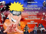 Naruto Birthday Invitation Impressive Naruto Birthday Invitation 1 Image Invitation