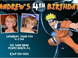 Naruto Birthday Invitation Naruto Invitations