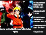 Naruto Birthday Invitation Naruto Invitations Personalized Party Invites