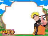Naruto Birthday Invitation Template Free Printable Naruto Birthday Invitation Template
