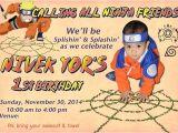 Naruto Birthday Invitation Template Naruto Birthday Party Invitation Card