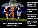 Naruto Birthday Invitation Template Naruto Invitations 2 Personalized Party Invites