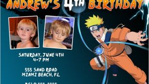 Naruto Birthday Invitation Template Naruto Invitations
