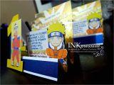Naruto Birthday Invitations Birthday Invitation Naruto theme Images Invitation