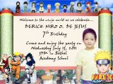 Naruto Birthday Invitations Eg 39 S Layout World Naruto Invitation