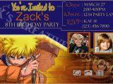 Naruto Birthday Invitations Naruto Custom Birthday Party Invitation Hq Digital File