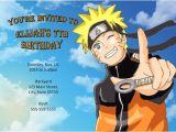 Naruto Birthday Invitations Naruto Invitation Naruto Birthday