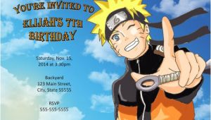 Naruto Birthday Invitations Naruto Invitation Naruto Birthday
