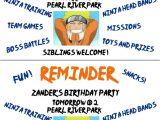 Naruto theme Birthday Invitation Birthday Invitation Naruto theme Choice Image Invitation